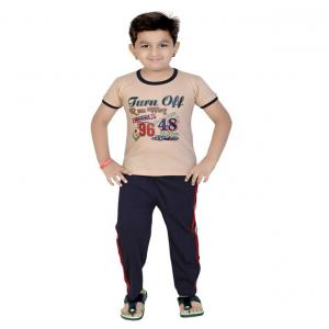 13in Beige Cotton Boys Night Suit