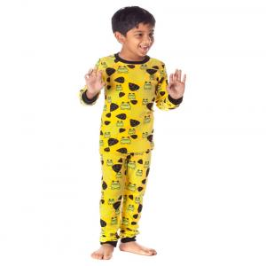 Nuteez Yellow & Green Cotton Night Suit