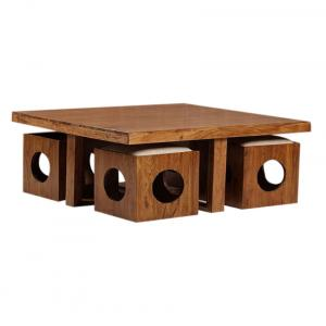 Coffee Table Cum Mini Dinning With Four Stools