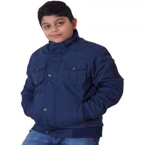Little Bugs Navy Cotton Padded Jacket Without Hood