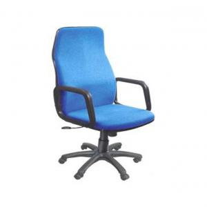 S M Chairs Metal Natural Finish Office Chairs In Blue