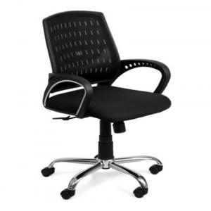 Bhalla Steel Furniture Black Exclusive Office Chair