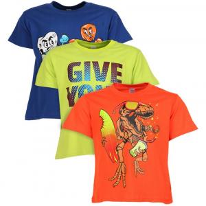 Goodway Half Sleeves Pack of 3 Graphic Printed T-Shirts For Kids