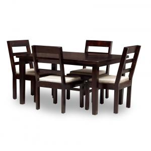 ASAAM 4 SEATER DINING SET INCLUDES DINING TABLE PLUS 4 CHAIRS WITH