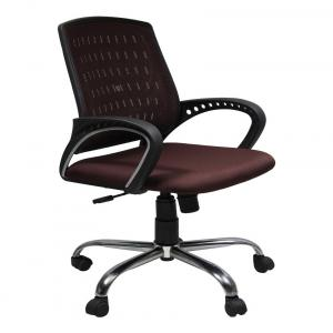 Low Back Office Chair In Maroon
