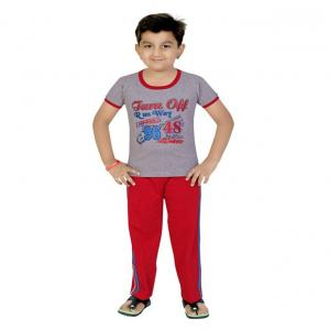 13in Grey Cotton Boys Night Suit