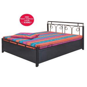 Double Bed With Storage In Black