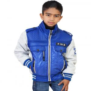 Little Bugs Blue Synthetic Padded Jacket Without Hood