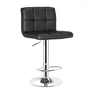 Bar Stool With Black Upholstery