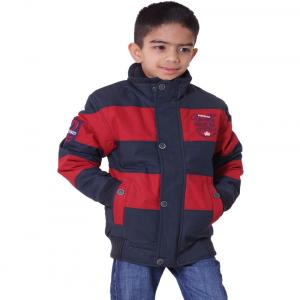Little Bugs Red Cotton Padded Jacket Without Hood