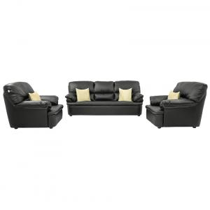 Comfort Couch Black Sofa Set