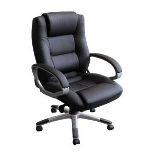 Divano Modular Black Fabric And Steel Office Chair