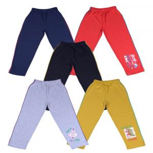 Provalley Multicolour Cotton Trackpant - Pack Of 5