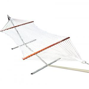 Oak N Oak 48 Inches Cotton Rope Hammock With Hanging Hardware