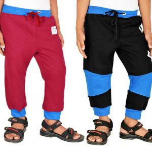 Gkidz Multicolor Trackpant For Boys - Pack Of 2