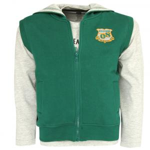 612 League Gray & Green T-shirt With Hooded Jacket