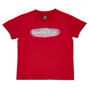 United Colors Of Benetton Red Cotton Short Sleeve T-shirt