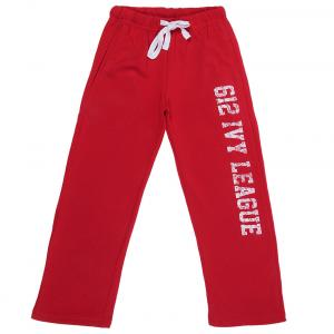 612 League Red Cotton Regular Track Pant