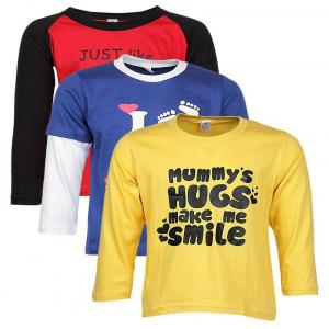 Goodway Combo Of 3 Multicolour Full Sleeve T Shirt For Boys