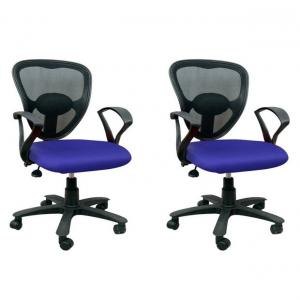 Life Style Interior Blue Metal And Plastic Office Chairs