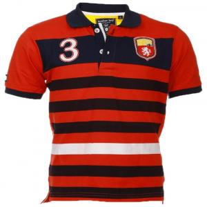 Lumber Boy Red Half Sleeves Polo T Shirt For Boys