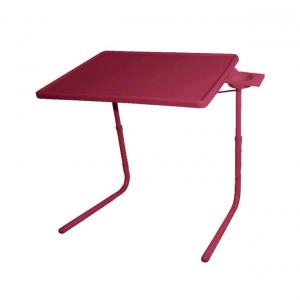 Hlp Brown Table Mate Ii 2 Folding Portable Adjustable Table With Cup Holder