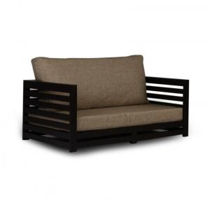 Arra Jinjer Contemporary Two Seater Sofa - Jute