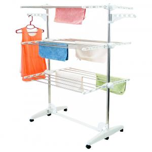 Kingsman White Stainless Steel Cloth Stand