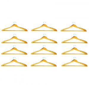 Hangwell Pack Of 12 Pieces Wooden Hangers