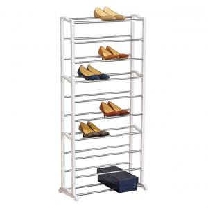 Ezzi Deals Amazing Portable 10 Tier Shoe Rack - Holds Approx. 30 Pair Of Shoes