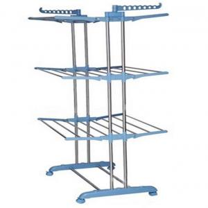 Abhinandan 3 Layer Adjestable Ss Cloth Drying Rack With Wheels