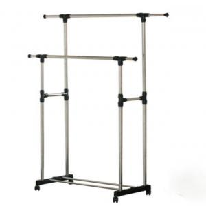 Zephyr Matte Stainless Steel Double Pole Cloth Hanger Dryer Stand