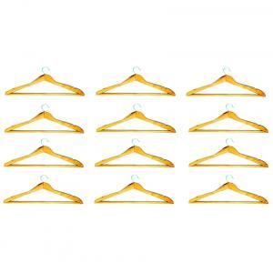 Pack Of 48 Pieces Wooden Hangers For Jeans Trousers Shirt Saree Salwar
