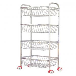 Vpsk Silver Stainless Steel Wire Basket