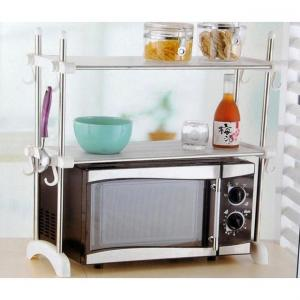Kawachi Kitchen Microwave Oven Double Bowl Stainless Steel Rack
