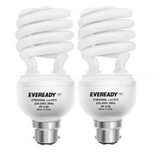 Eveready ELS 27W White Glass CFL Combo of 2