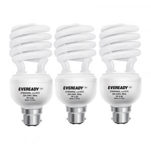 Eveready ELS 27W White Glass CFL Combo of 3