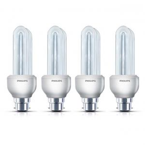 Philips Cfl Pack Of 4 Essential Bulbs - 14 W