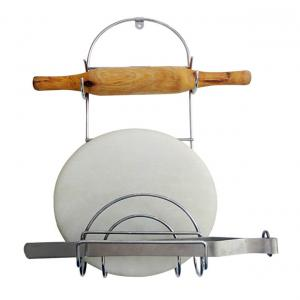 Sterling Rolling Pin & Tong Holder