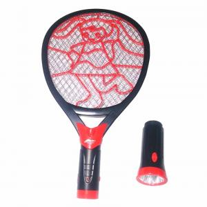 Tuscan Rechargeable Electric Mosquito Killer Racket With Detachable Led Torch