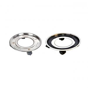 BlackPearl Deluxe Stainless Trolley For LPG Cylinder (50mm Wheels)