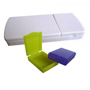 Neha White Pill Box With Pill Cutter For Medicine Tablet Storage