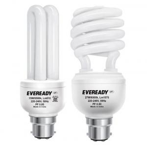 Eveready ELS 27W + ELD 15W White Glass CFL Combo of 2
