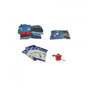 Easy Bag Vacuum Storage Bags (with 5 Bags With Free Air Pump, Set Of 2 Small & 3 Medium Bags)