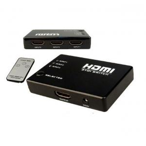 3 Port HDMI Switch With Remote + iR For Hub Splitter Box HD TV LCD