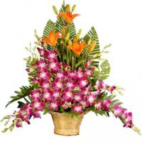 Mix Flowers in Basket