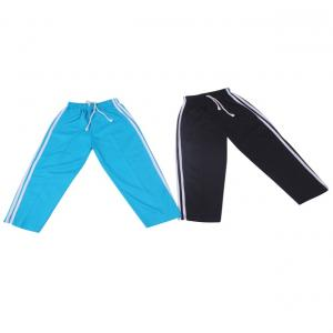 Weecare Black & Blue Cotton 3 Patti Trackpants Pack Of 2
