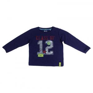 Fs Mini Klub Long Sleeves Navy Color Round Neck T-Shirts For Kids