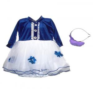 Kankuwala Blue And White Frock