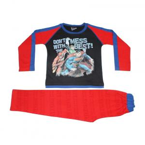 Eteenz Black & Red Justice League Boys Night Suit